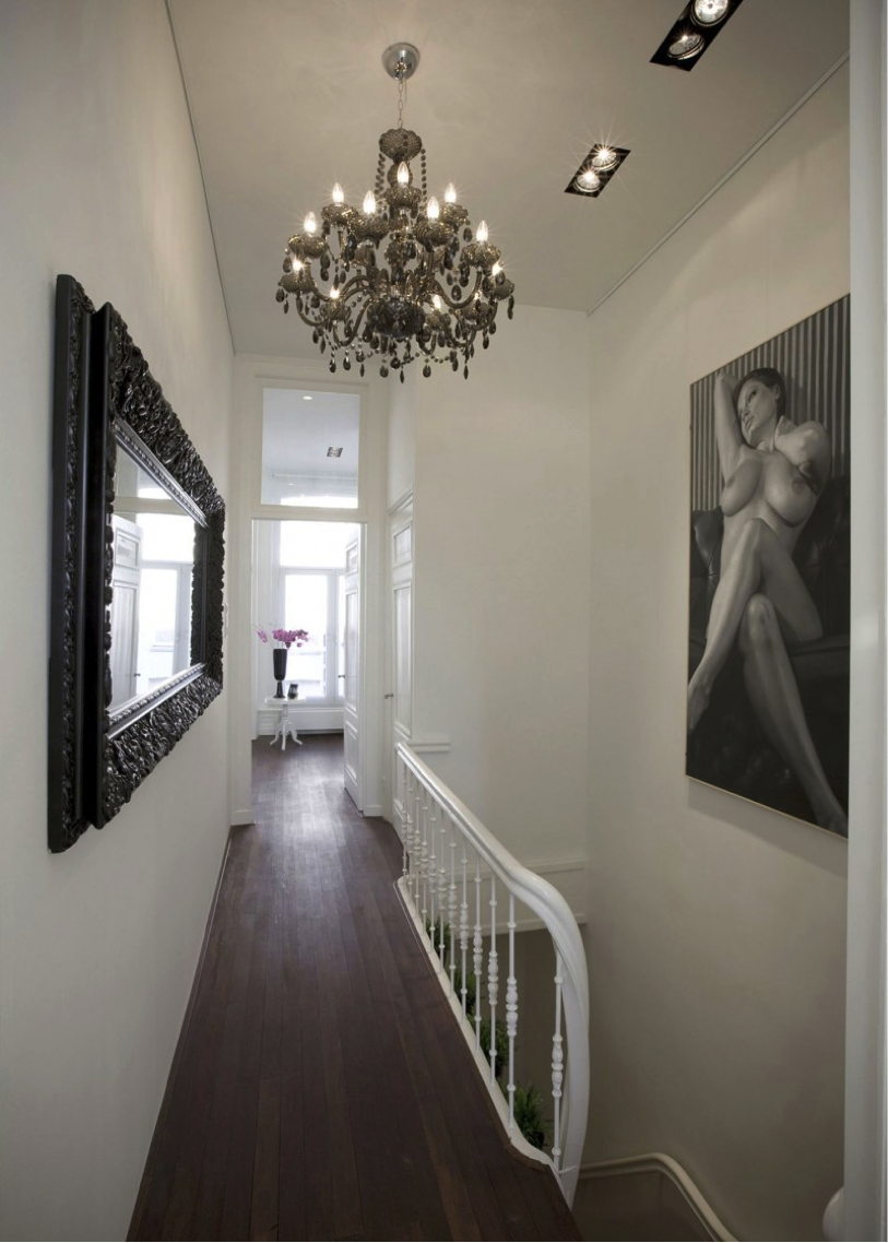 chandelier hallway Bathrooms