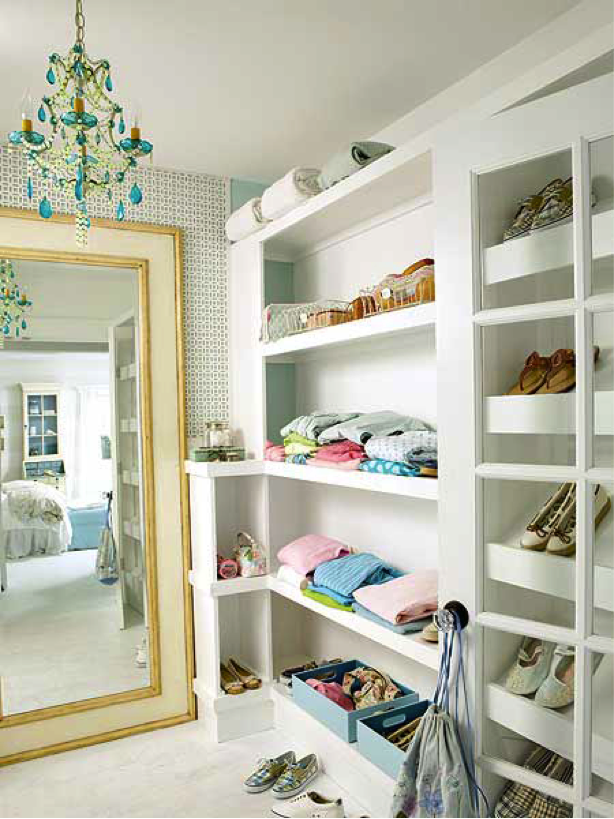 closet chandelier Bathrooms