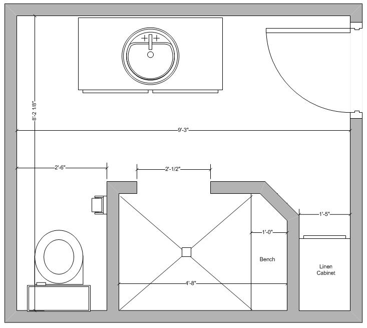 Small bathroom layouts with shower only