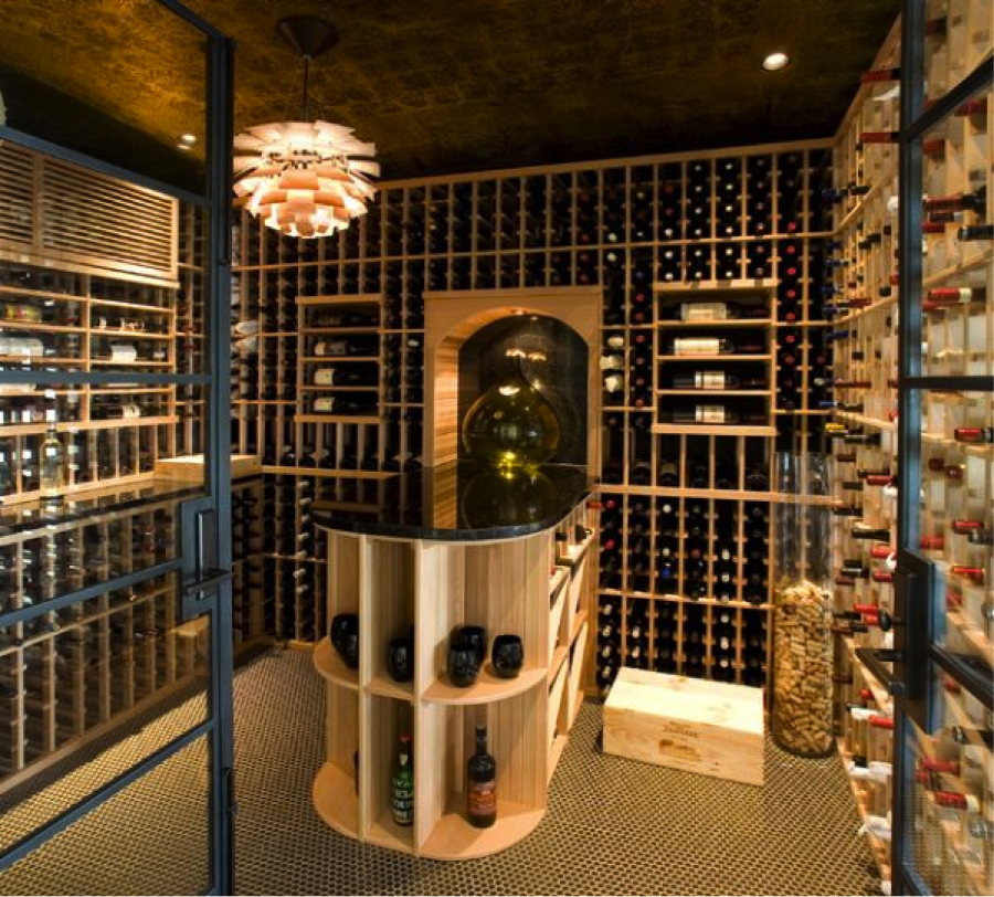 wine cellar chandelier Bathrooms